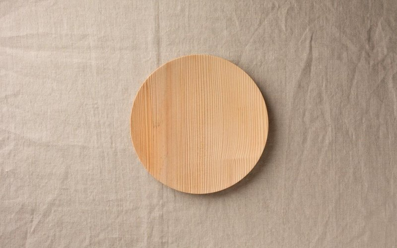 No.10 fir of wooden plate 18cm
