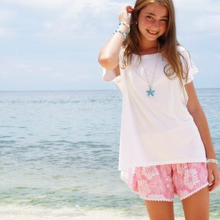 Summer Girl! San Flower print shorts <Pink>