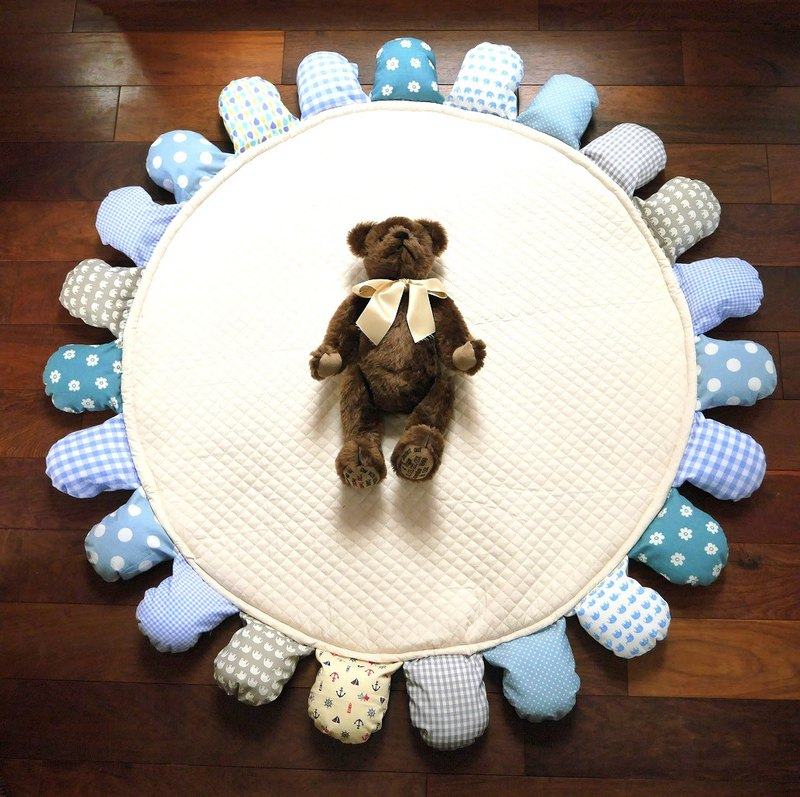 Baby flower play mat / Blue