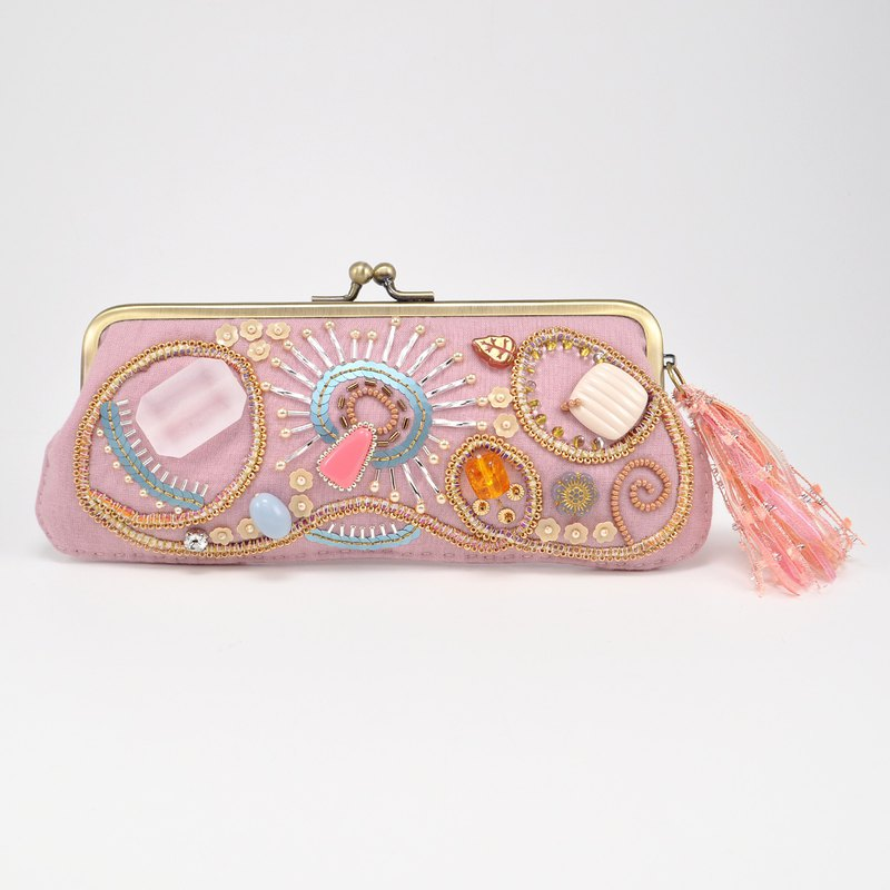 Sparkle and statement glasses and pen case, pink sunglasses case, 33
