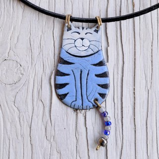 Jewelry, Enamel, Pendant, Cat, Enamel Pendant, Enamel Necklace, Enamel Jewelry, Cat Pendant, Cat Necklace, Cat Jewelry, Boho Enamel Necklace, Cat Shaped Jewelry, Tabby Cat,