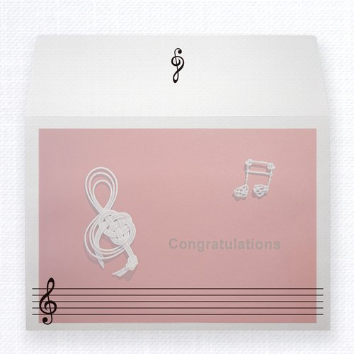 MIZUHIKI Greeting Card   SING A SONG