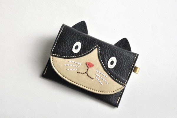 Case be put Toka Toka business card IC card black-and-white cat ♪