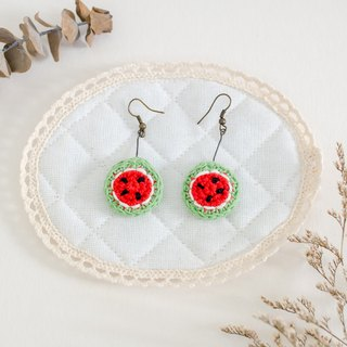 Earrings crochet fruit | The Watermelon
