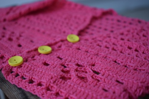 Pink girl cardigan, organic baby sweater, colorful clothing, eco friendly