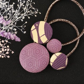 Happy hair ornament Kimono hair rubber Dot pattern 2 pieces
