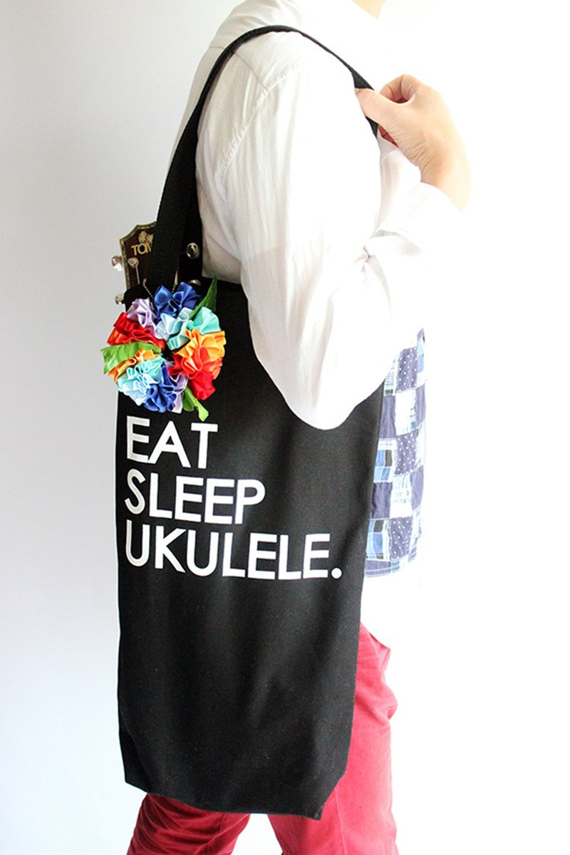 Ukulele bag,rainbow flower included,ukuelestrap,ukulelebag,