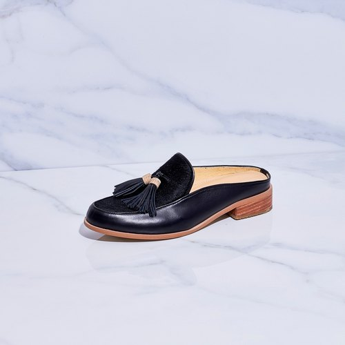 BLACK - Willow Mule Loafers