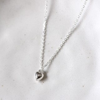 Mini Solid Heart necklace Silver925