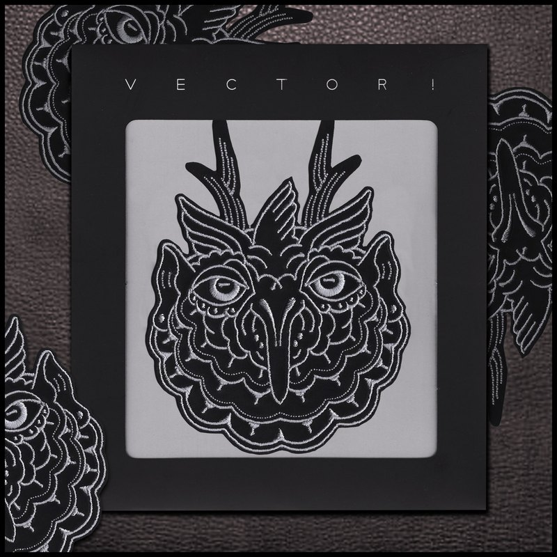 OWL Tattoo Embroidered Patch Design