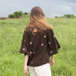 linnil: Midnight butterfly tunic / ebony fruit dye / dark brown
