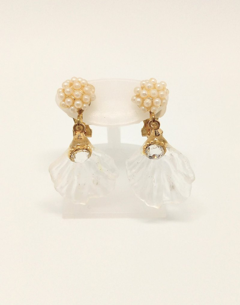 Flower clip on earrings Free shipping Handmade With box For gift