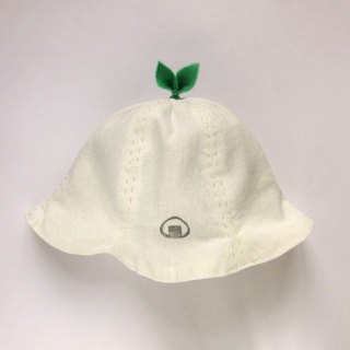 Grow Up! Leaf Hat for Baby & Toddler / Onigiri on Linen