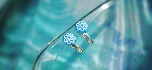 Venetian glass millefiori earrings (pierced)