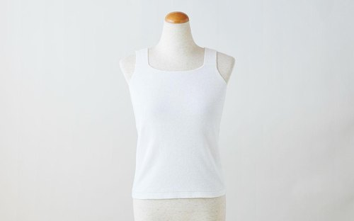 Luo cloth hemp tank top white ladies