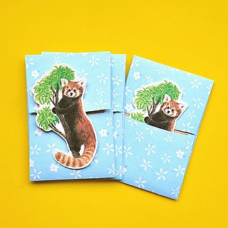 small envelope with card/Red panda