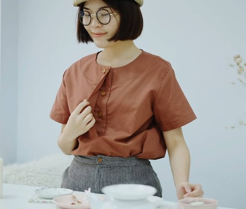 Bonnie Blouse : Brown Sugar