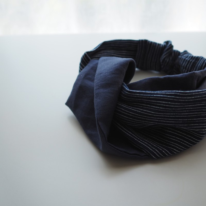 Headband Reservoir -FH03 -cotton, fabric, blue