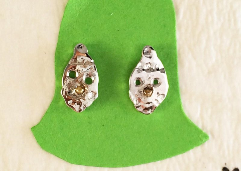 Santa Claus silver earrings