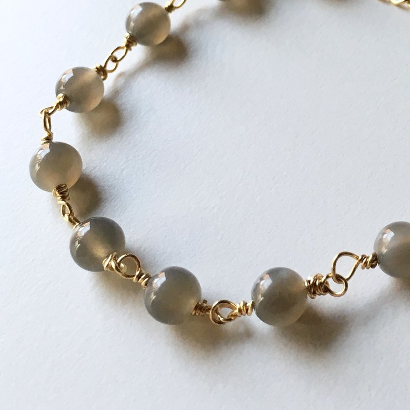 June birthstone gray moonstone bracelet