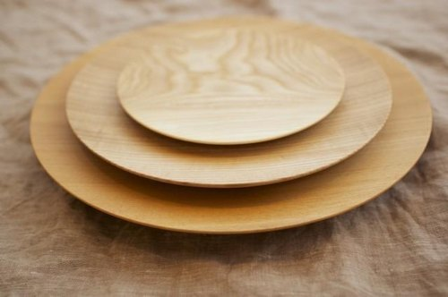 Tree of potter's wheel grind of wooden plate plug (to do) 27cm