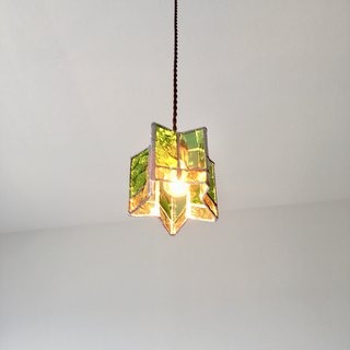 Twinkle night Star pendant light Kiwi green glass Bay View