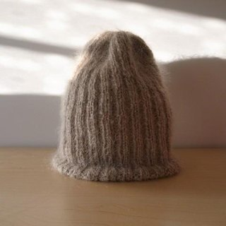 Mohair's rib knitted knit cap · phone knitted hat ● Make-to-order production ●