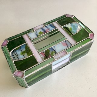 Tissue Box Case Secret flower Glass Bay View