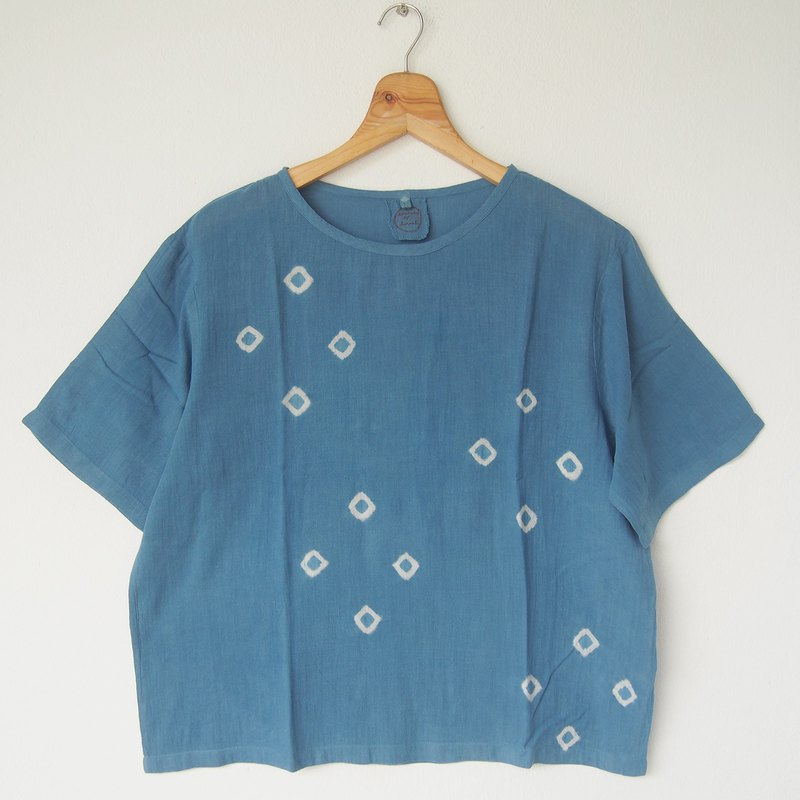 Indigo 4-dots short-sleeve shirt