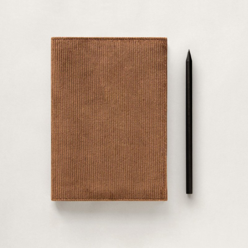 Corduroy B6 Notebook (Brown)
