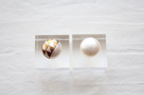 MAKIE pearl earrings <Scales> Single
