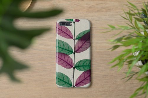 iphonecase green and pink leaf for iphone5s, 6s, 6s plus, 7, 7+, 8, 8+, iphone x