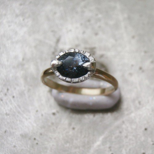 Violet Spinel and K14 and SV925 Rings
