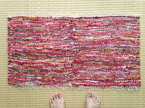 Red tear woven mat (2 pairs)