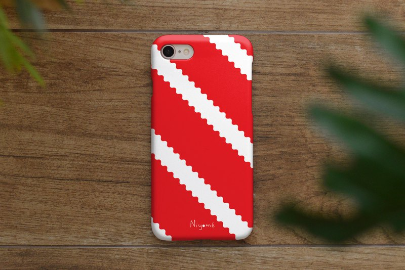 iphone case zigzag on red for iphone5s,6s,6s plus, 7,7+, 8, 8+,iphone x