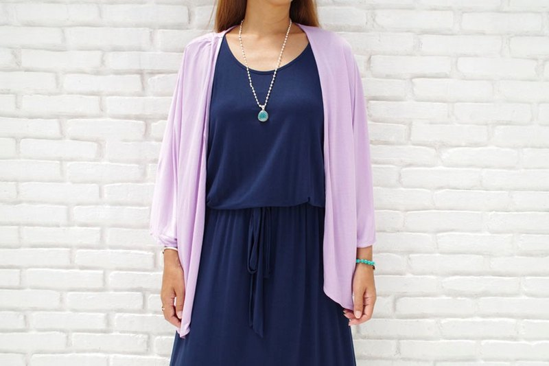 Also I want multiple shots at the simple! Kimono Cardigan <Lavender>