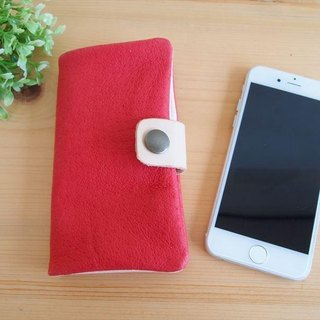 [Custom-made classic Red] pig leather soft Sumahokesu [various models corresponding] leather cover [iphone6, xperia, galaxy]