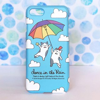 Rainbow umbrellas and cats iPhone Case 【Custom order】