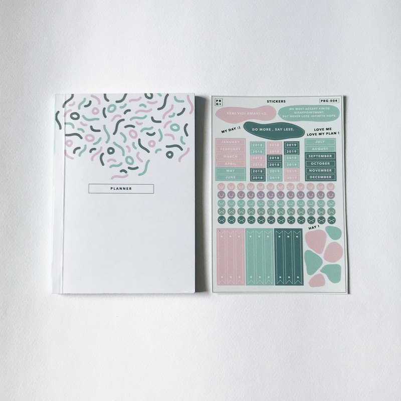 Planner set (small) : cover 001 / back blue cover