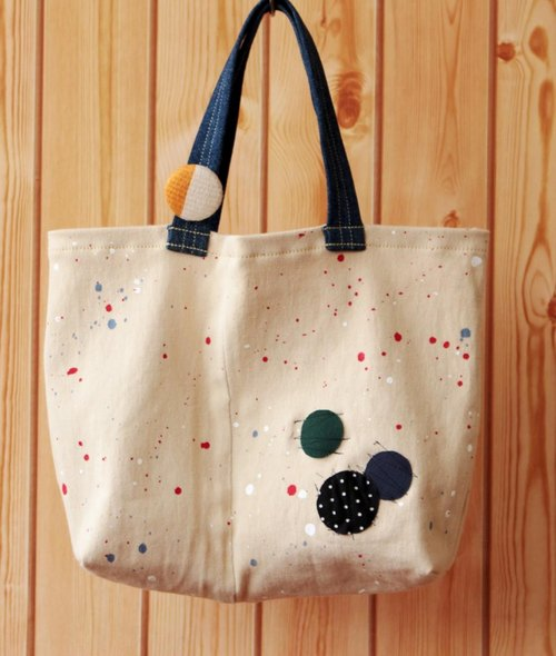 Denim tote (Space series) no.15