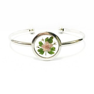 透明押花手镯 (Silver Framed Bangle)