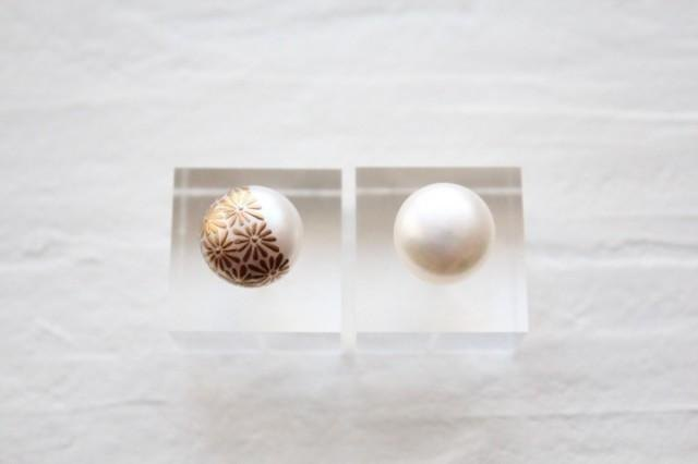 MAKIE pearl earring / Japanese pattern _ chrysanthemum