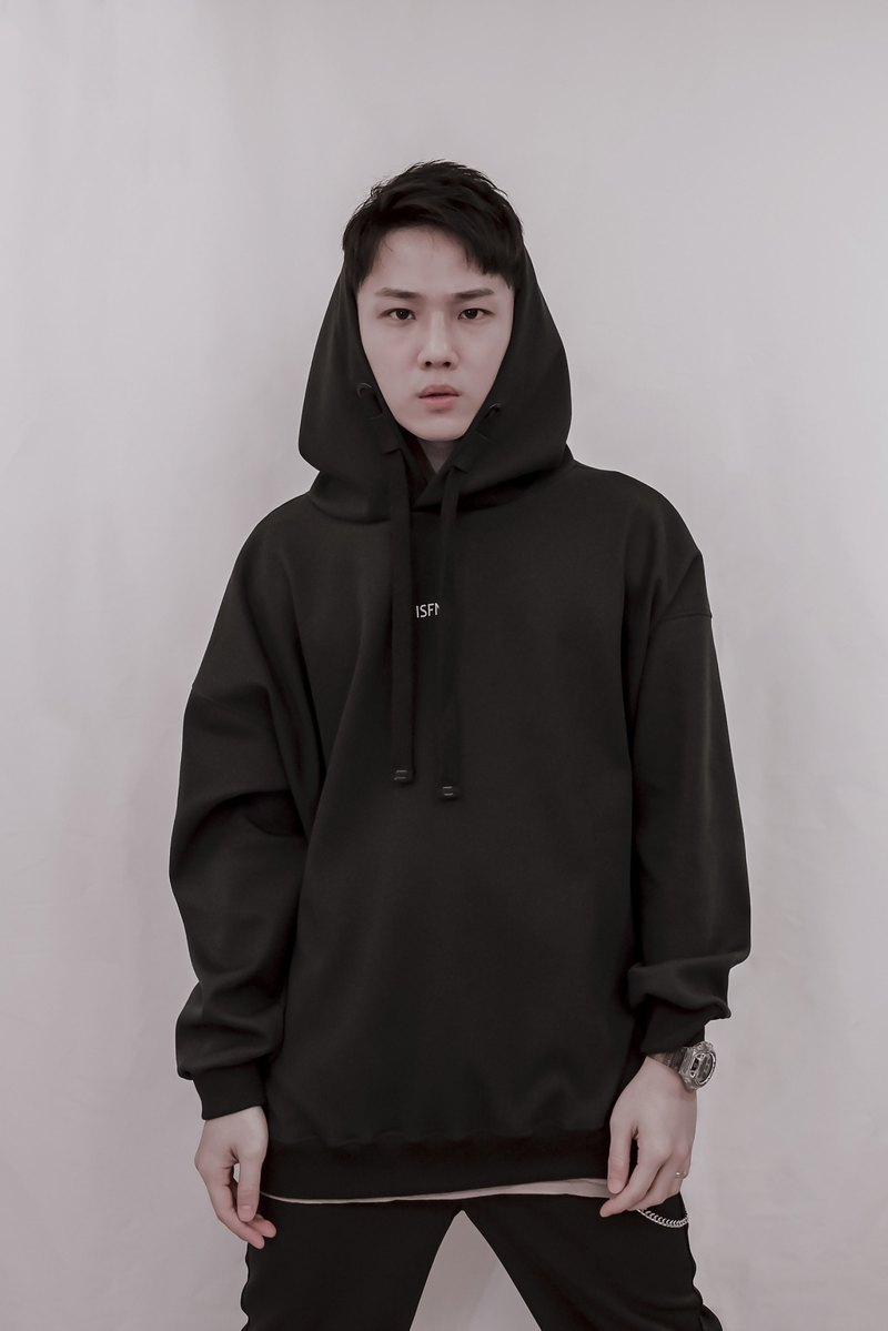 ISFN 2019 A/W Dropped Shoulder Hoodie - Black 帽T 连帽上衣