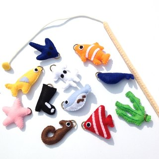 Felt fishing set educational toys children