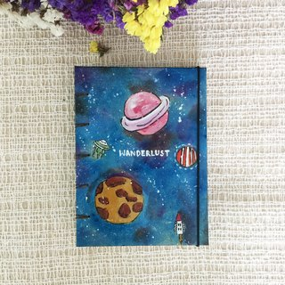 Galaxy Notebook Painting  Handmadenotebook Diary Journal  筆記本