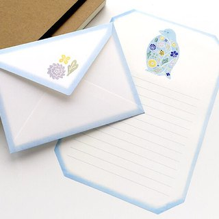 Letter writing set/stitch zoo/Penguin