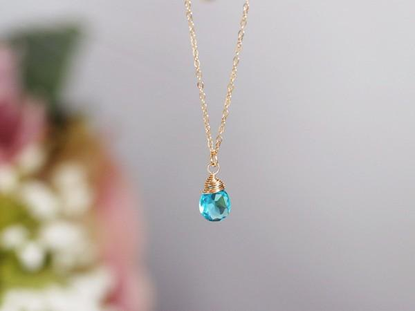 An all-purpose stone that purifies everything and brings you luck Blue quartz necklace