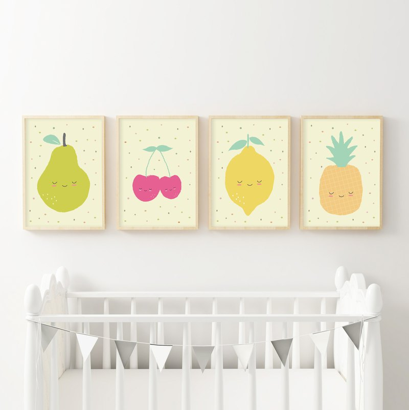 Fruit Nursery Decor 可定制化 海报