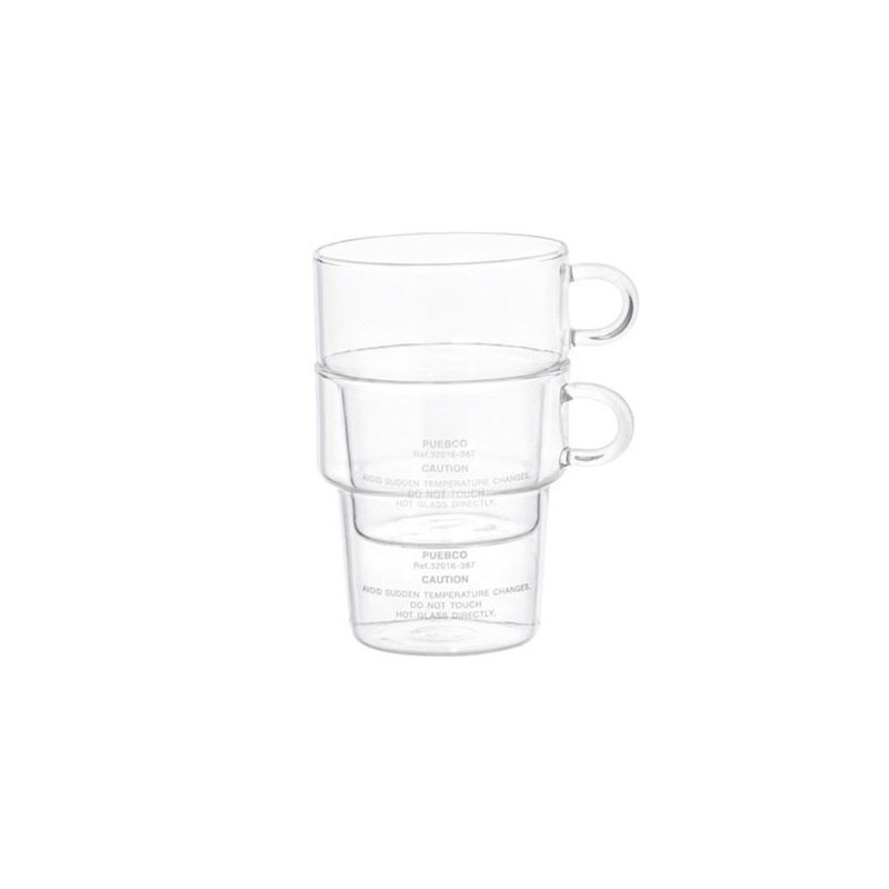BOROSILICATE GLASS MUG Deep Stacking 玻璃堆叠马克杯 340ml