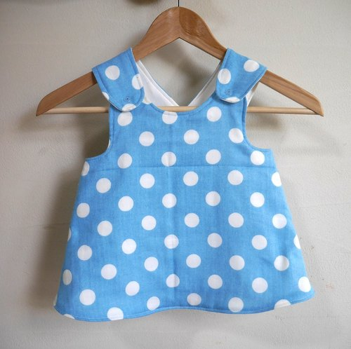 6-12 month】 Baby Crossover Tunic / dots